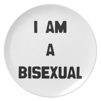 I AM A BISEXUAL PLATE