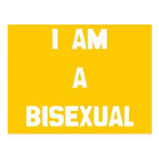 I AM A BISEXUAL POSTCARD