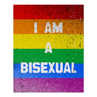 I AM A BISEXUAL POSTER