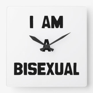 I AM A BISEXUAL SQUARE WALL CLOCK