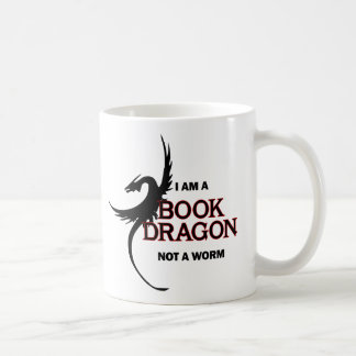 I am a Book Dragon not a Worm (printed both sides) Coffee Mug