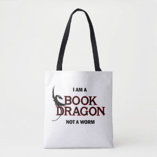 I am a Book Dragon, not a Worm Tote Bag