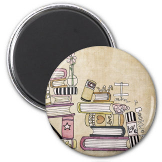 i am a bookworm 2 inch round magnet