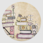 i am a bookworm classic round sticker