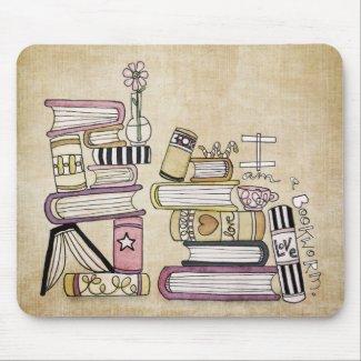 i am a bookworm mousepad