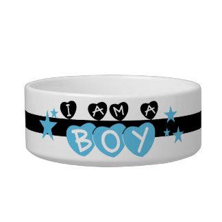 I Am a Boy Pet Dish Cat Water Bowls