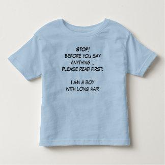 I am a boy! toddler t-shirt