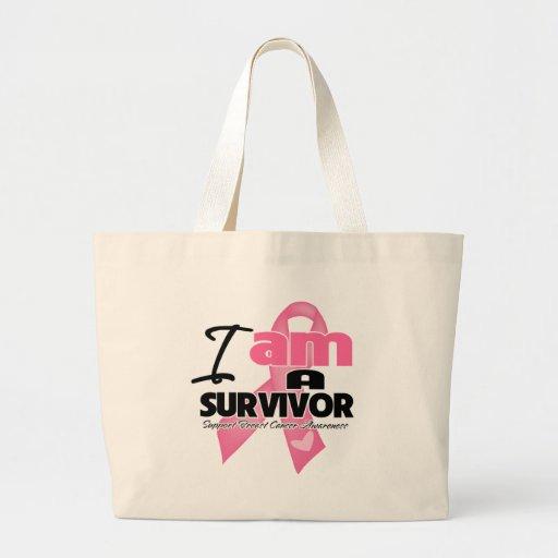 I am a Breast Cancer Survivor Jumbo Tote Bag