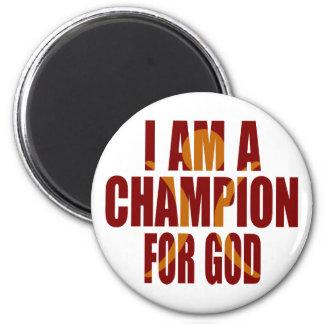 I AM A CHAMP Magnet