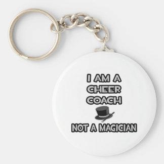 I Am A Cheer Coach ... Not A Magician Basic Round Button Keychain