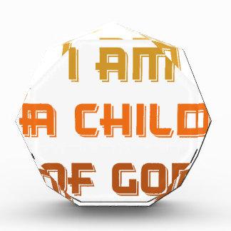I am a child of god award