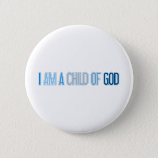 I AM A CHILD OF GOD BLUE BUTTON