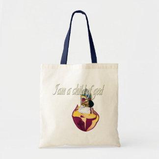 I am a child of god budget tote bag