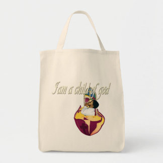 I am a child of god grocery tote bag