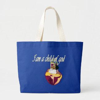 I am a child of god jumbo tote bag
