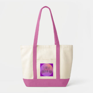I Am a Child of God Pink and Purple Bag
