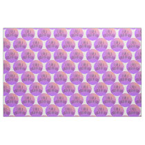 I Am a Child of God Purple Dotted Fabric