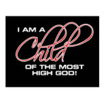 I Am A Child of the Most High God - Joel Osteen Postcard