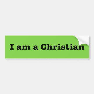 """""""I AM A CHRISTIAN"""" BUMPER STICKER"""