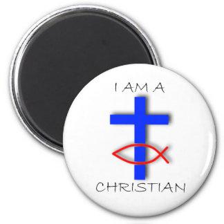 I Am A Christian Circle Magnet