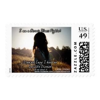 I am a Chronic Illness Fighter!! Postage Stamp