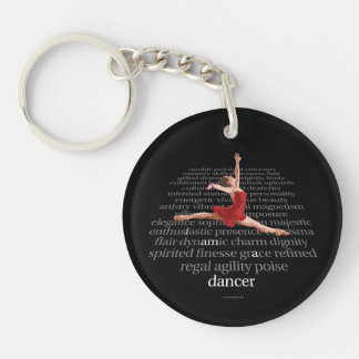 I Am A Dancer Double-Sided Round Acrylic Keychain
