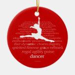 I Am A Dancer Double-Sided Ceramic Round Christmas Ornament
