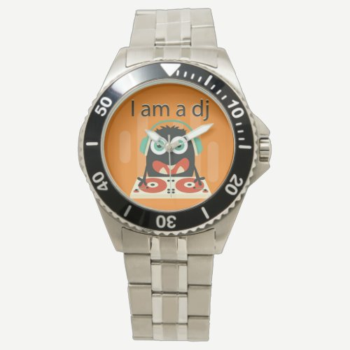 """I am a DJ"" Funny Cute Men's Kid's Gift Watch"