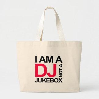 I AM A DJ NOT A JUKEBOX LARGE TOTE BAG