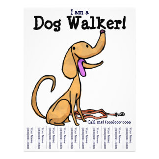 I am a Dog Walker! Flyer
