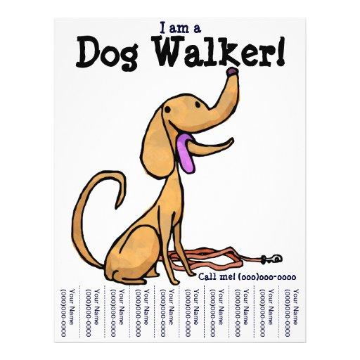 I Am A Dog Walker Flyer Zazzle