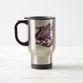 I am a Dragon. I am Badass. 15 oz Travel Mug