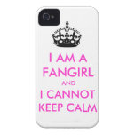 I am a fangirl and i cannot keep calm iphone case Case-Mate iPhone 4 case