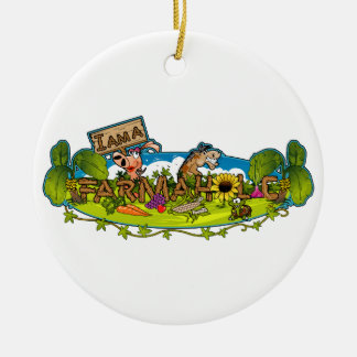 I Am A Farmaholic Christmas Ornament