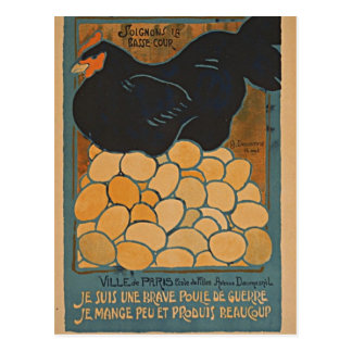 I am a fine war hen postcard