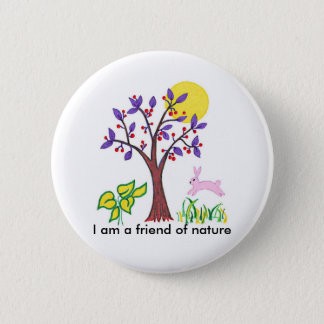 I am a friend of nature painting & quotation button