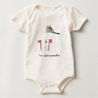 I am a future president. baby bodysuit