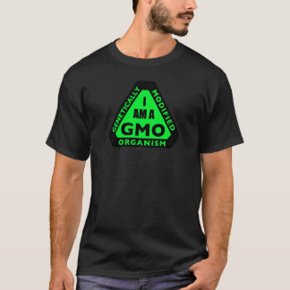 """I AM A GMO"" T-shirt: Green T-Shirt"