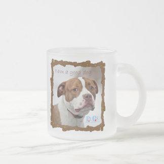 I am a Good Dog Frosted Glass Coffee Mug