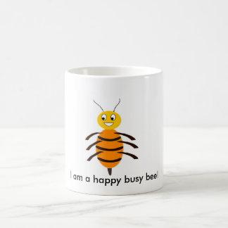 I am a happy busy bee! classic white coffee mug