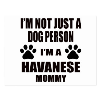 I am a Havanese Mommy Postcard