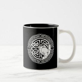 I am a Hawk: Snow Two-Tone Coffee Mug