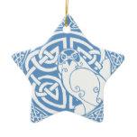 I am a Hawk: Snow (Wes ðu hal) Ceramic Ornament