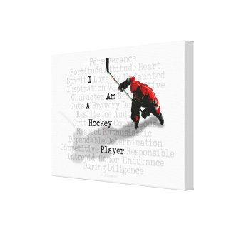 I am a Hockey Player Gallery Wrapped Canvas