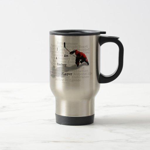 I am a Hockey Player 15 Oz Stainless Steel Travel Mug