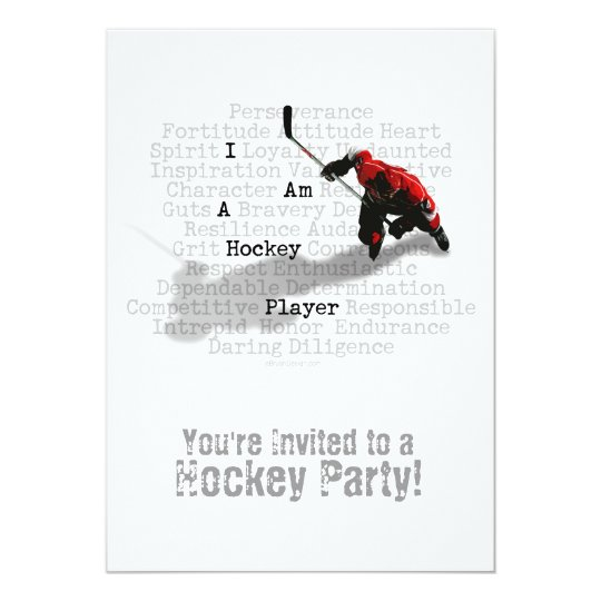 I am a Hockey Player party Invitation