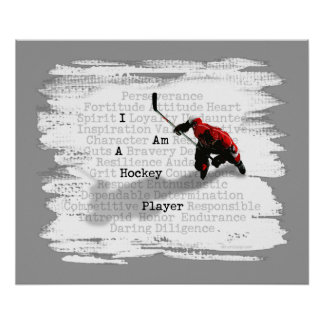 I am a Hockey Player Prints and Posters