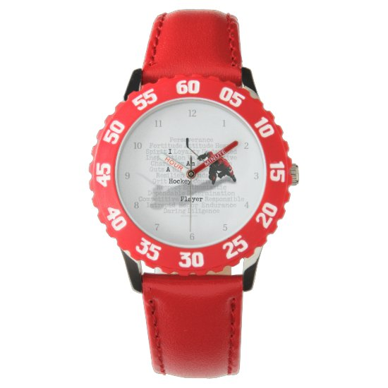 I am a Hockey Player Wrist Watch