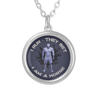 I Am A Horse Silver Plated Necklace
