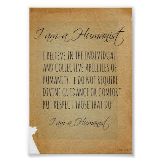 I AM A HUMANIST POSTER